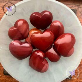 Mookaite Gemstone Crystal Heart